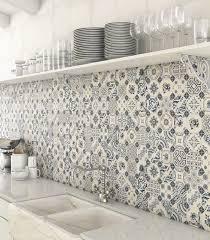blue kitchen tiles ideas white blue patchwork backsplash world parks vives with neutral