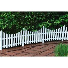 different materials used for decorative garden fencing garden