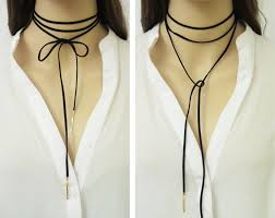 black rope choker necklace images Suede wrap necklace wrap choker black suede choker black jpg