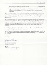 Complaints Letter To Hospital complaints to the college of physicians and surgeons elder