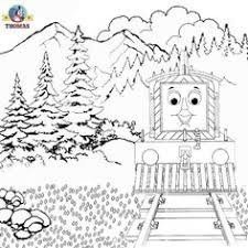 kids thomas train coloring pages free printable picture