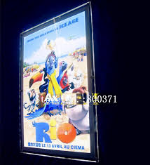 led picture frame light 2018 24x36 acrylic movie poster frame light box home theater led