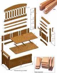 Bench Construction Plans Deacons Bench Plans U2022 Woodarchivist