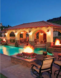 Pool Patios by Spanish Style Landscape With A Pool Pools With Pizzazz