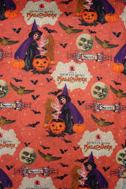 halloween fabric bewitching fabric vintage children