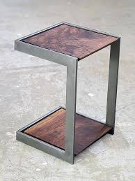 round wood and metal end table small wood end table small metal end table best amazing welded