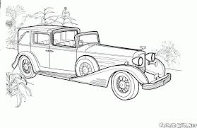 coloring page mercedes benz 540k
