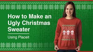 how to make an ugly christmas sweater youtube