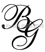 monogram letter b monograms with letters b and g the monogram page