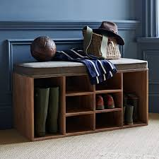 shoe storage bench tweed within home