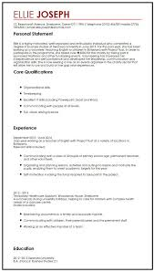 Resume Transferable Skills Examples by Cv Sample With Gap Year Myperfectcv