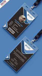free psd multipurpose dark office id card template on behance