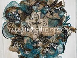 burlap and turquoise deco mesh wreath for 90 listingdock