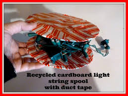 make it easy crafts recycled cardboard light string spool