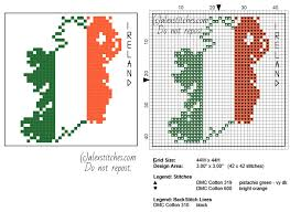Flag White With Red Cross Coaster Idea Ireland Map With Flag Colors Red White And Green Free