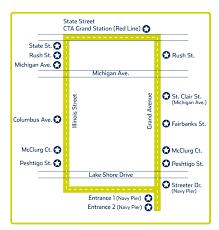 navy pier map sofa chicago 2015 parking at navy pier spothero