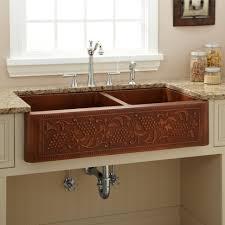 Hammered Copper Bathroom Sink Kitchen Copper Kitchen Sinks And Faucets Kohler Undermount