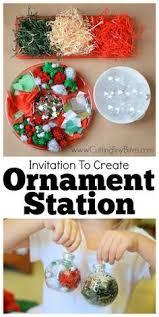 invitation to create ornament station