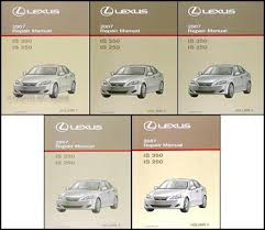2008 lexus is 250 owners manual 2007 lexus is 350 is 250 repair shop manual set original