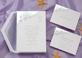 invitation kits wedding invitations response sets starfish themed