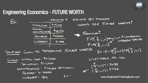 future worth fundamentals of engineering economics youtube