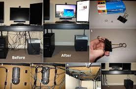 Desk Cord Organizer Diy Easy Cable Organizer Fabdiy