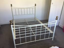 argos alderley white metal double bed frame in norbury london