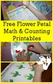 free flower petal counting u0026 math printable 3dinosaurs com