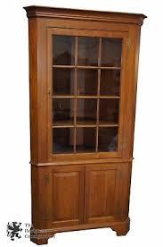 black corner china cabinet henkel harris 12 pane glass wild black cherry corner china cabinet