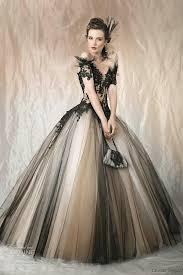 robe de mari e gothique vintage noir non blanc deux tons tulle gothique de mariage