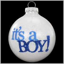 it s a boy glass glitter ornament hungary made european made