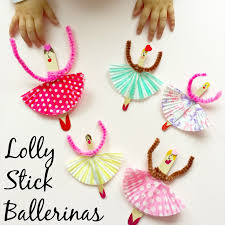 lolly stick ballerinas a super simple and fun kids craft