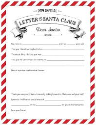 official letters from santa official letters from santa 2014 best template collection