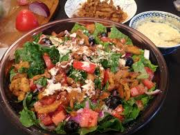 thanksgiving soy curls with vegan vegan soy curl caesar salad and cheesy breadsticks the