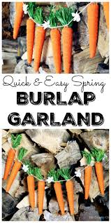 easy spring burlap garland the country chic cottage
