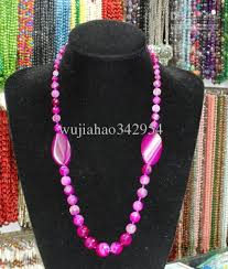 natural stone beaded necklace images Natural stone fashion red agate jewelry design sculpture surface jpg