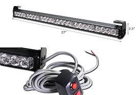 led emergency light bars cheap wonenice 7 modes 27 24 led emergency warning traffic advisor