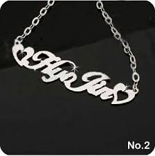 personalized name pendant mojoii personalized sterling silver name necklace heart
