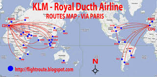 Air France Route Map by Pz C Klm Airlines