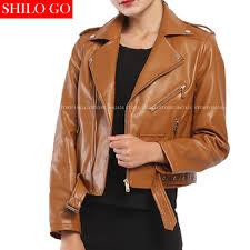 compare prices on womens brown leather motorcycle jacket online