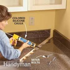 How To Remove Hair From Bathroom Floor How To Install A Countertop Family Handyman