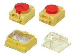 push button covers for tripus switch plug combinations