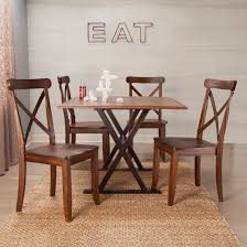 Drop Leaf Rustic  Dining Table Brown Threshold  Target - Dining room table with leaf