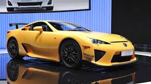 lexus lfa engine lexus lfa nürburgring edition revs its engine video