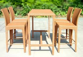 Bar Table And Stool Rattan Bar Table And Stoolsmodern Outdoor Wicker High Top Table
