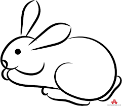 best hd outline rabbit clipart free design download cdr