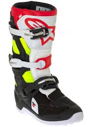 motorcycle boots australia alpinestars black red fluorescent tech 7s kids mx boot