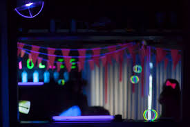 glow in the party decorations glow in the 15 neon birthday party ideas parentmap