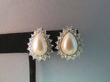 monet earrings monet pearl earrings ebay