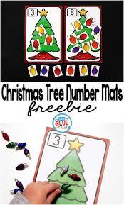 christmas tree number printable math manipulatives free